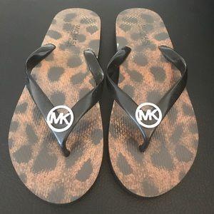 MICHAEL Michael Kors Leopard Flip Flops